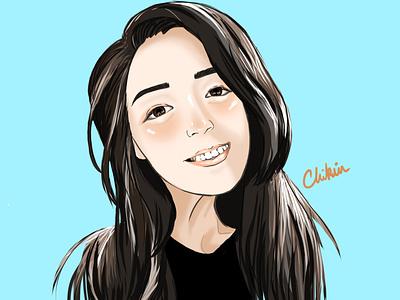 Luna portrait illustration asian girl asian digital illustration digital art digital painting digitalart digital art drawing anime girl anime art animeart anime