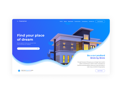 Real Estate Landing Page landing design landing illustration ui vector design uiux