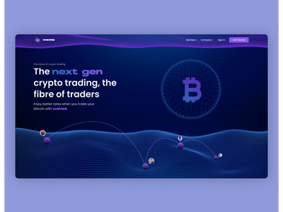 Crypto Currency Landing page vector illustration design crypto exchange cryptocurrency crypto