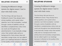 Typeface Comparison
