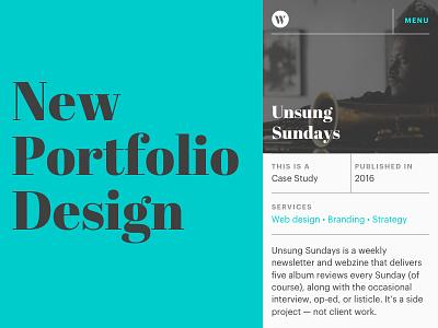 Mobile Portfolio Design portfolio website table grids web design grid portfolio