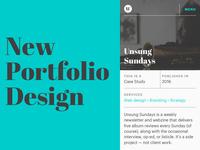 Mobile Portfolio Design