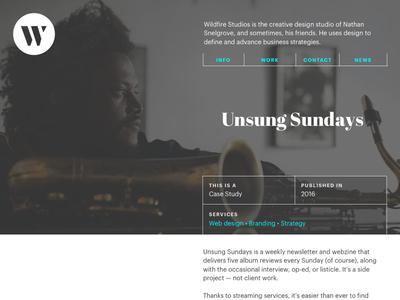 Case Study Redesign clean webdesign layout tables portfolio web design portfolio design grids grid