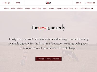 The New Quarterly hoefler reading digital mag web design magazine