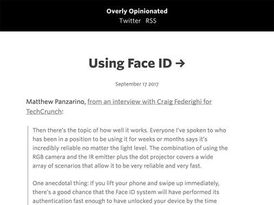 New blog apple blog web design
