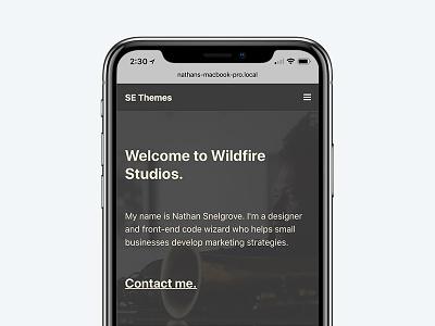 New portfolio wip mockup website design website web design portfolio