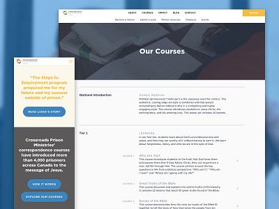 Crossroads Prison Ministries website non-profit non profit webdesign web