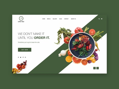 Restaurant Website UI Design xd blog restaurant uidesign website food