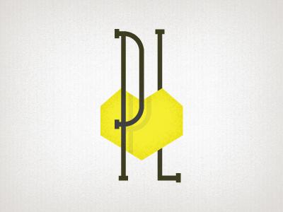 Pixel Lover logo logo retro illustration heart yellow poligonal typography