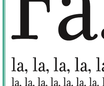 Fa, la, la, la, christmas card poster song type kern letterpress