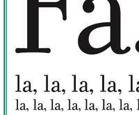 Fa, la, la, la,