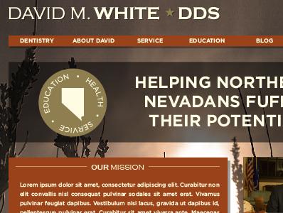 David M. White, DDS Website web design logo brand politics