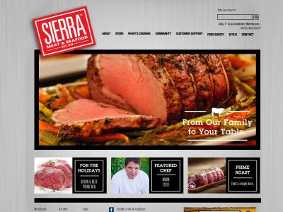 Picture 2 web design reno wordpress custom theme sierra meat and seafood development
