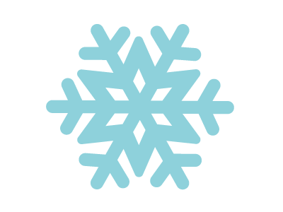 snowflake icons dreaming of winter