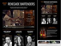 Renegade Bartenders Microsite