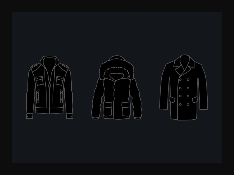 Brrrrr! cold jacket coat leather illustrations illustrator vector icons icon flat clothing clothes