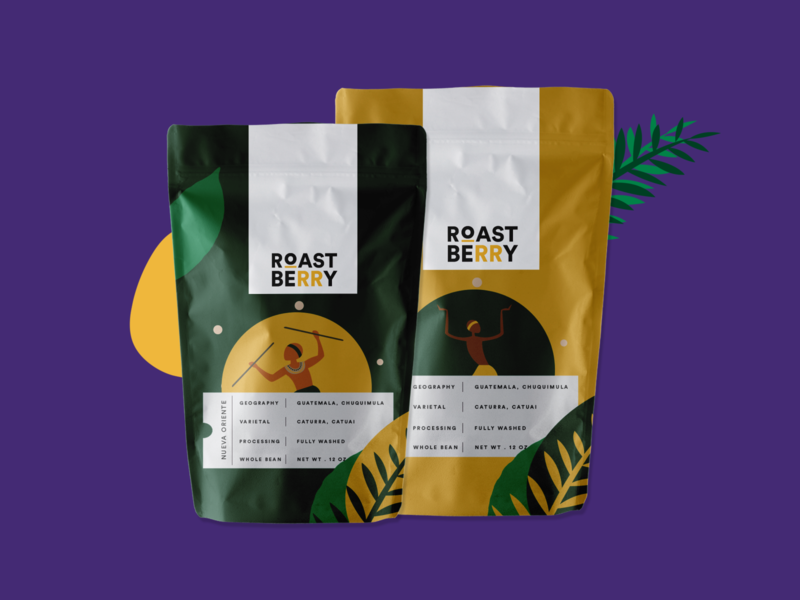 Product Packaging || Roast Berry creative design africa coffeeshop branding design packaging mockup coffee bean coffee vector illustration packaging design packaging