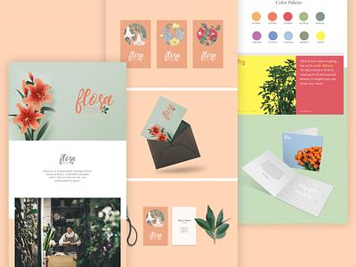 Branding Guidelines || FLora brand design packaging web brand identity branding concept branding design typography vector logo branding website design