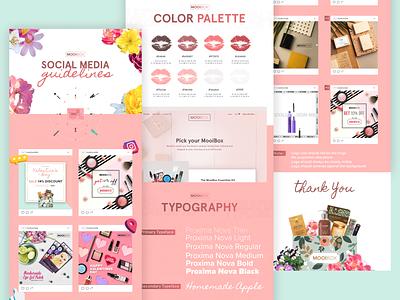 Social Media Guidelines    MOOIBOX social networks social app app web design website branding design makeup artist subscription box makeup guidelines social network social media typography vector logo illustration branding design