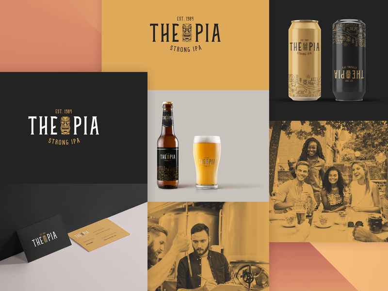 Branding || PIA BEER can design color packaging mockup web branding design beer can beer branding beer label packaging design packaging typography logo website mobile ui branding design
