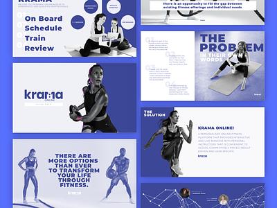 Pitch Deck Design || Krama branding design adobe xd illustrator photoshop pitchdeck
