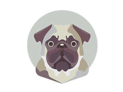 Minimal Pug minimal vector simple pug pugs illustration pug illustrated dog illustration vector art vector dog face dog pug minimalizm minimal