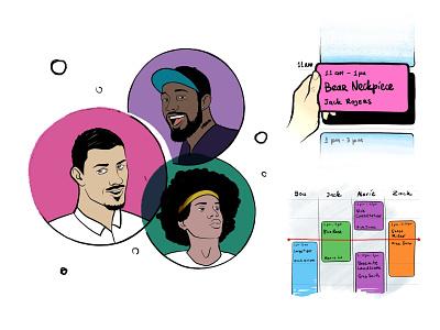 Onboarding illustrations iphone interface design ios illustration ui app