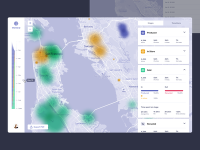 Logistics dashboard stages saas dashboard moeco sensors internet of things iot heatmap map analytics dashboard analysis