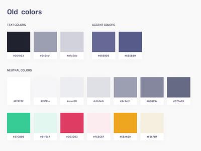 Moeco design system - Color palette palette pallete color scheme colors