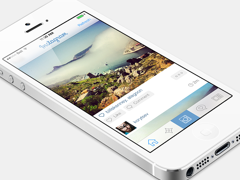 Instagram iOs 7 instagram iphone app ui interface white flat blur 7 ios ios 7