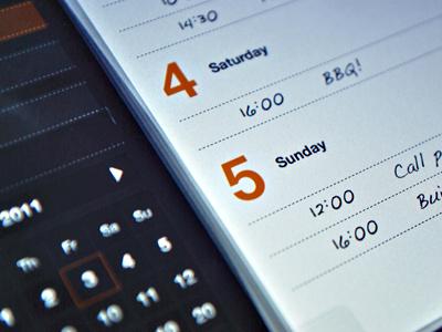 Planner app app interface ui ipad schedule planner pllanning paper texture