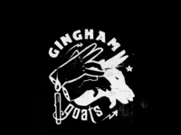 Gingham goats black