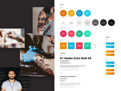 the.Ink style typography web design ink tattoo style design system styleguide