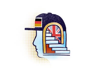 Language learning Illustration