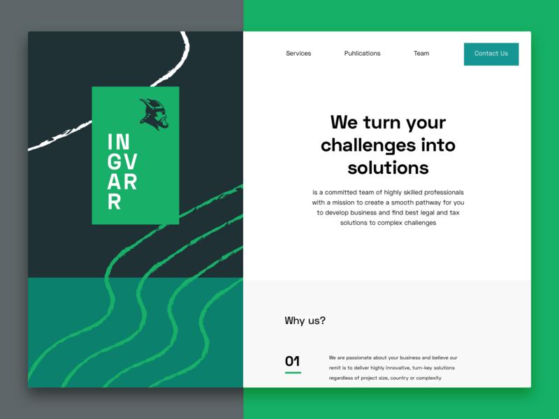 Ingvarr Concept advisory lawyers website web 2.0 concept marketing landing homepage web