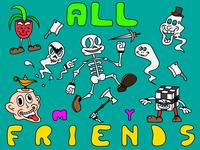 All My Friends disney adobe cartoon character cartooning cartoon illustration cartoons 1930s 1930 vector illustration design art adobe illustrator