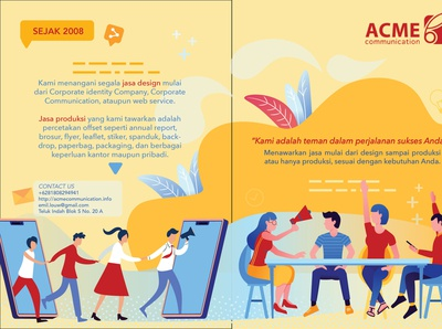 Company Profile for Acme Communication (the front side)