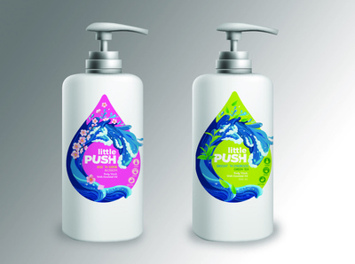 Redesign Little Push Label for Body Wash