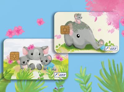 Flazz Card Illustration Design