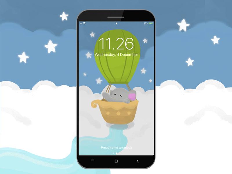 Smartphone Sleeping Elephant Wallpaper