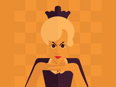 The Queen's Gambit netflix anya taylor‑joy anya taylor‑joy adobe illustrator photoshop graphic design portrait charecter illustration art design