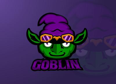 Goblin head E sports logo