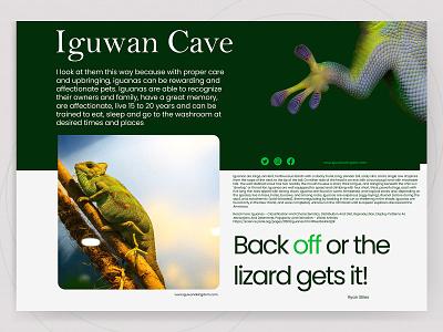 Iguwan Cave Web Banner poppins greenhouse greenery graphicdesign flyer design iguana uiux adobe photoshop webdesign web banner ad web banners
