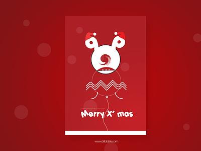 Christmas Mo Q Zaara christmas flyer santa red dribbble invite dribbble xmas card christmas branding uiux graphic design photoshop