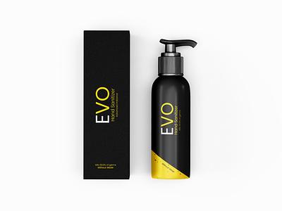 EVO Hand Sanitizer Branding yellow logo branding graphic design photoshop