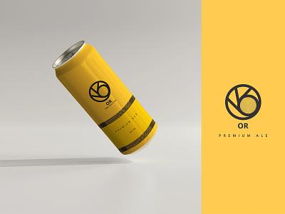 OR BEER or europe health alcohol yellow bottle drinks beer design branding graphic design adobe illustrator photoshop