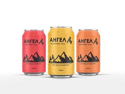 Angel Beer Bottle Design mock up bottle red orange yellow bottle design beer russia graphic design adobe illustrator photoshop