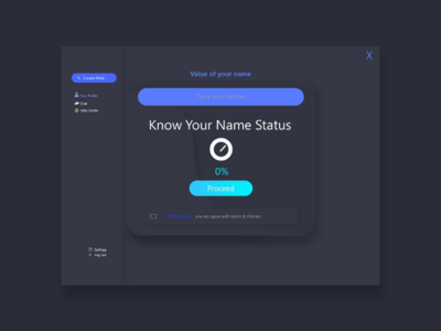 Know your name UI