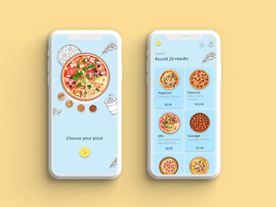 Pizza delivery app pizza delivery app design digital design design uiux ux ui app pizza