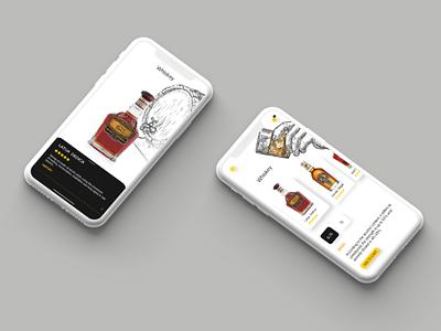 Liquor store application application app design illustration graphics graphic design uiux ux ui